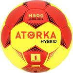 Atorka Handbal kind H500 hybride maat 1 rood/geel