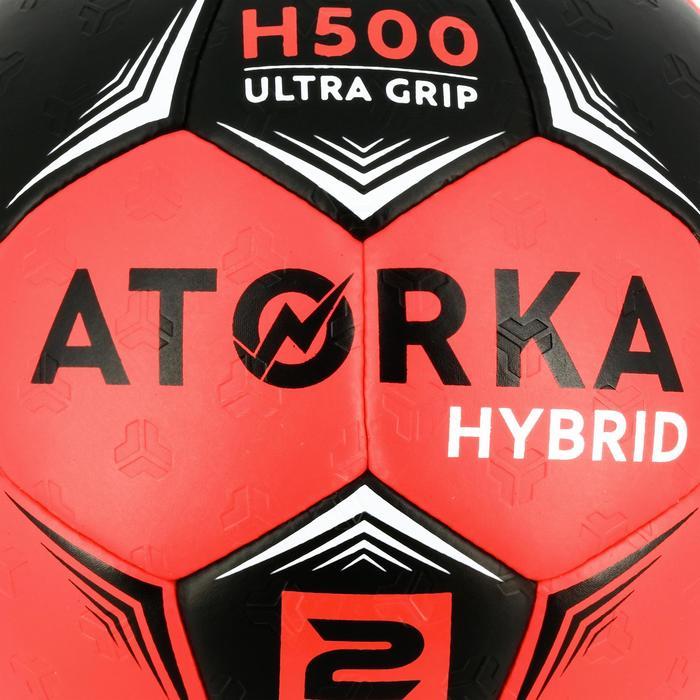 Ballon de handball adulte hybride H500 T2 rose/noir