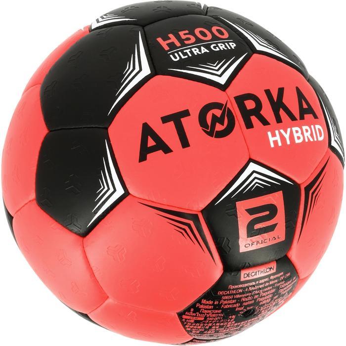 Ballon de handball hybride H500 Taille 2 rouge et - 1308819