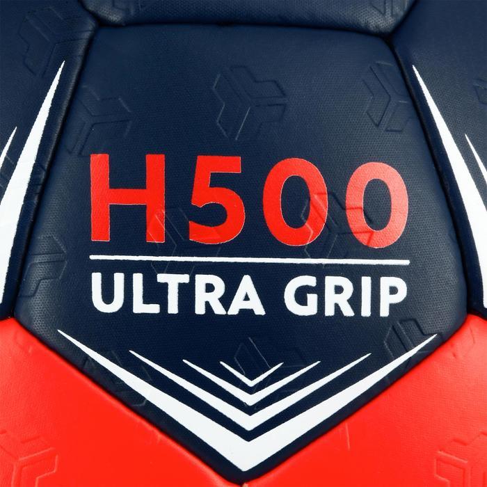 Ballon de handball hybride H500 Taille 2 rouge et - 1308828