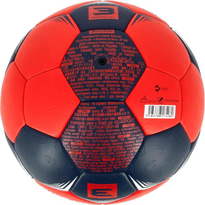 Ballon de handball hybride H500 Taille 2 rouge et - 1308829