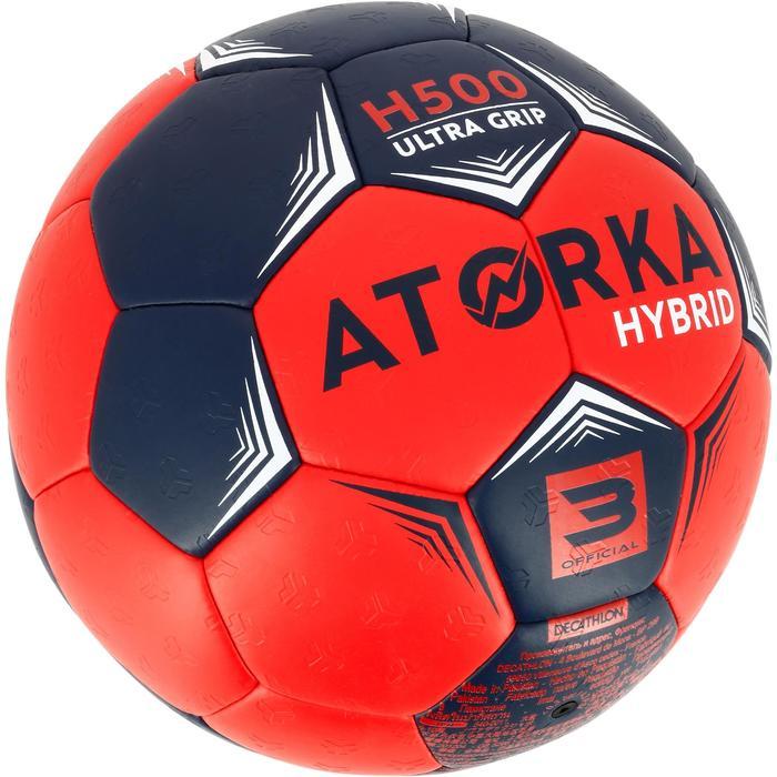 Ballon de handball hybride H500 Taille 2 rouge et - 1308835
