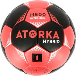 Handbal kinderen hybride M1 zwart/roze