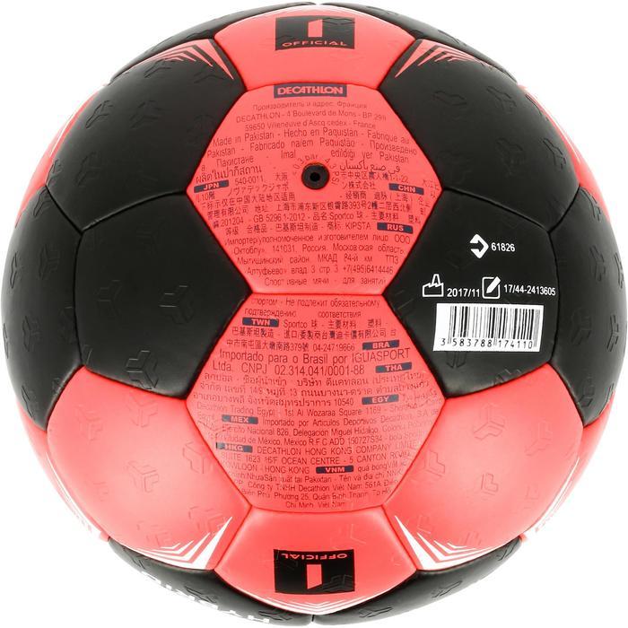 Handbal voor kinderen hybride maat 1 zwart en roze