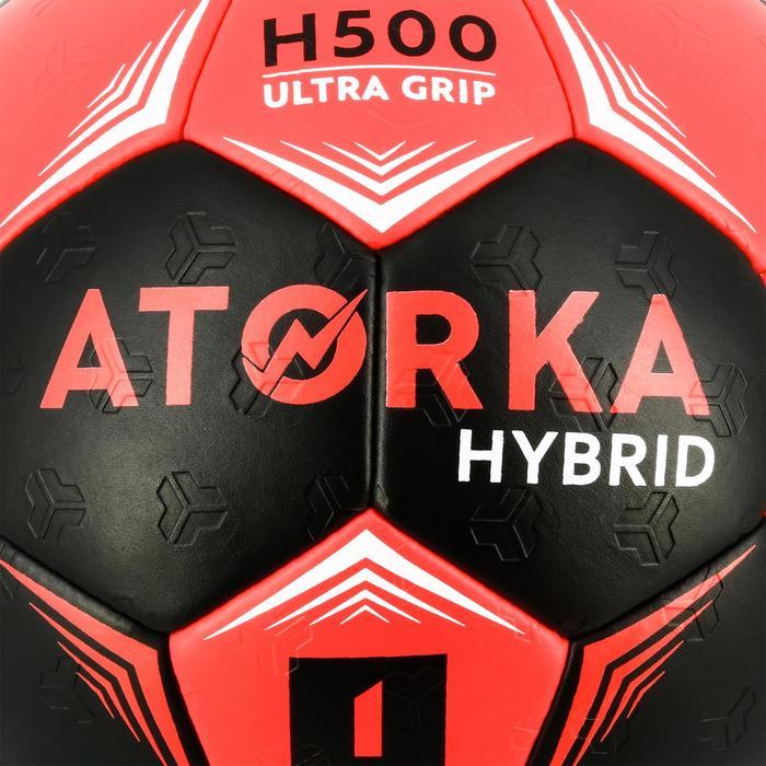 Handball H500 Hybrid Größe 1 Kinder rosa/schwarz