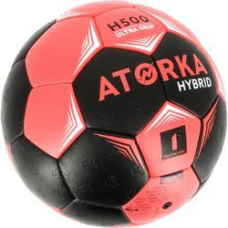 Ballon de handball enfant hybride Taille 1 noir et rose
