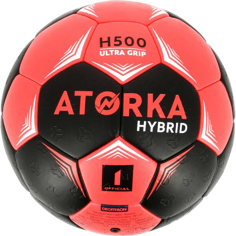 HANDBALL BALLS Handball - H500 S1 - Black/Pink ATORKA - Handball
