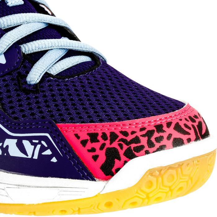 Chaussures de Handball H100 fille avec lacets violettes et roses - 1308866