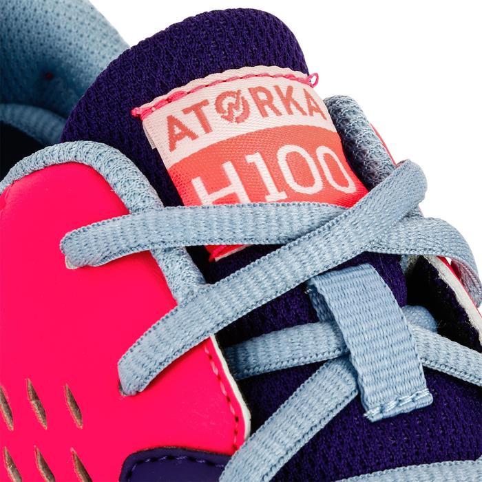 Chaussures de Handball H100 fille avec lacets violettes et roses - 1308868