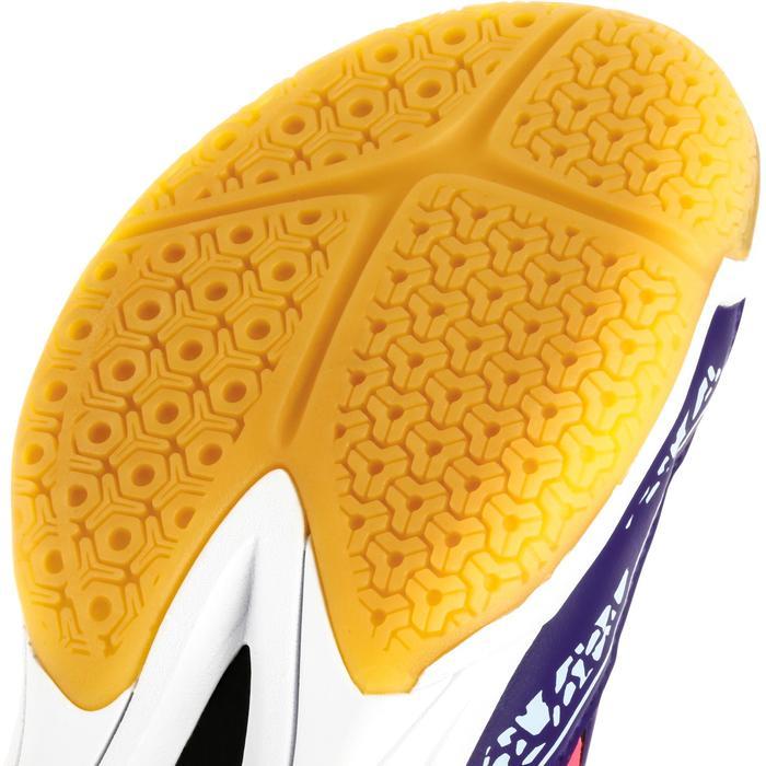 Chaussures de Handball H100 fille avec lacets violettes et roses - 1308870