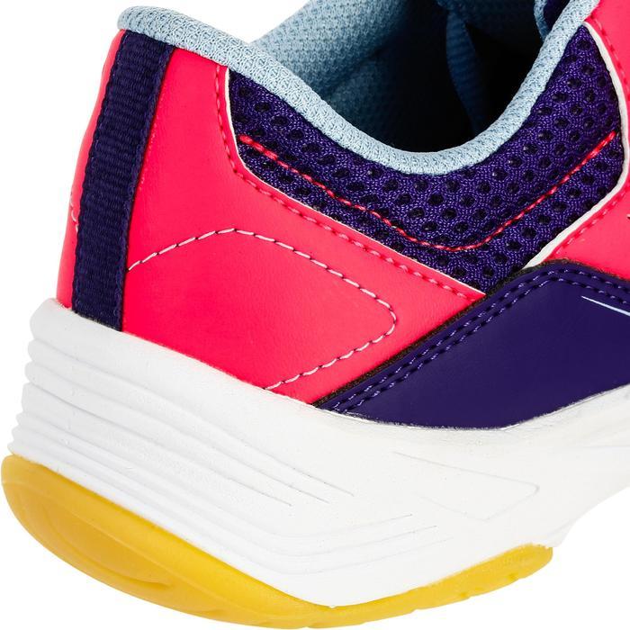 Chaussures de Handball H100 fille avec lacets violettes et roses - 1308873