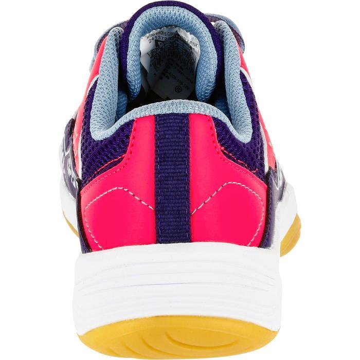 Chaussures de Handball H100 fille avec lacets violettes et roses - 1308876