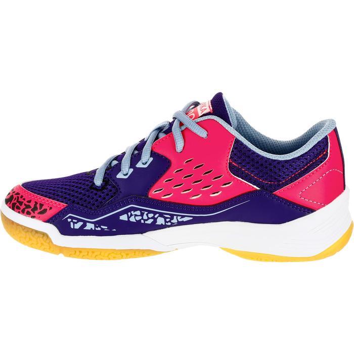 Chaussures de Handball H100 fille avec lacets violettes et roses - 1308878