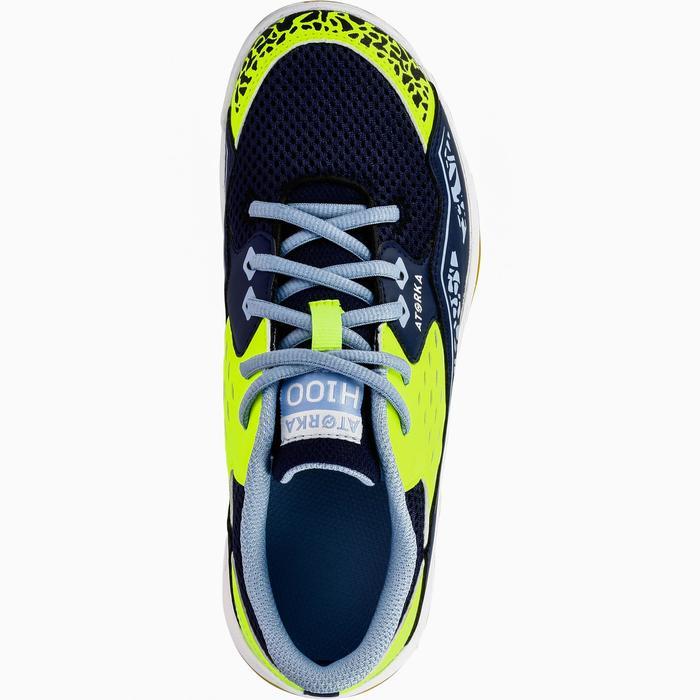 Chaussures de Handball H100 fille avec lacets violettes et roses - 1308896