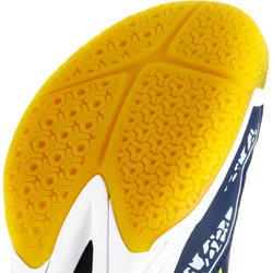 H100 Kids' Rip-Tab Handball Shoes - Blue/Yellow