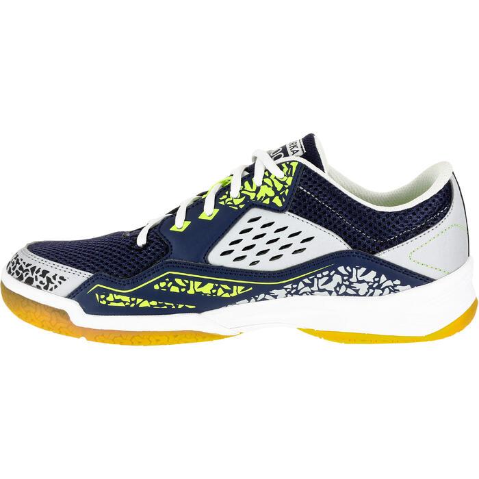 Handbalschoenen H100 grijs/geel