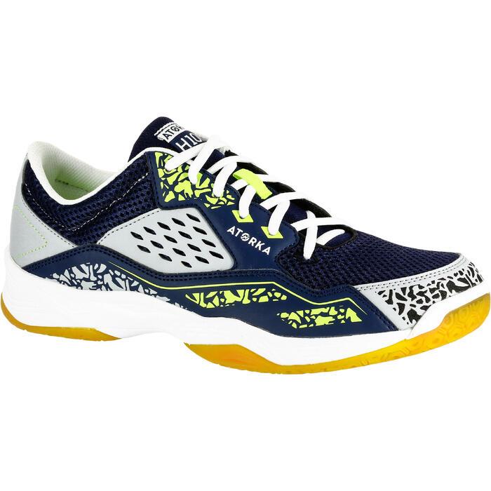 Chaussures de Handball H100 Homme grises et jaunes - 1308912
