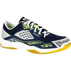 Chaussures de handball H100 adulte gris / jaune