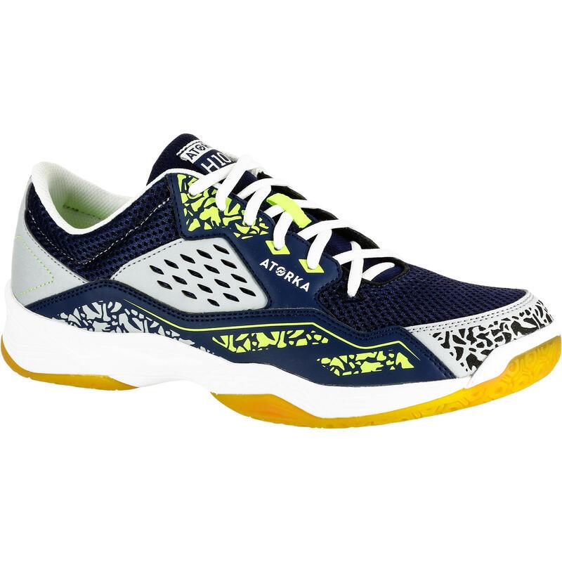 Adult Handball Shoes H100 - Grey/Yellow