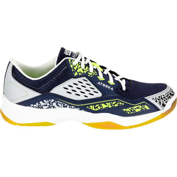 Chaussures de Handball H100 Homme grises et jaunes - 1308922