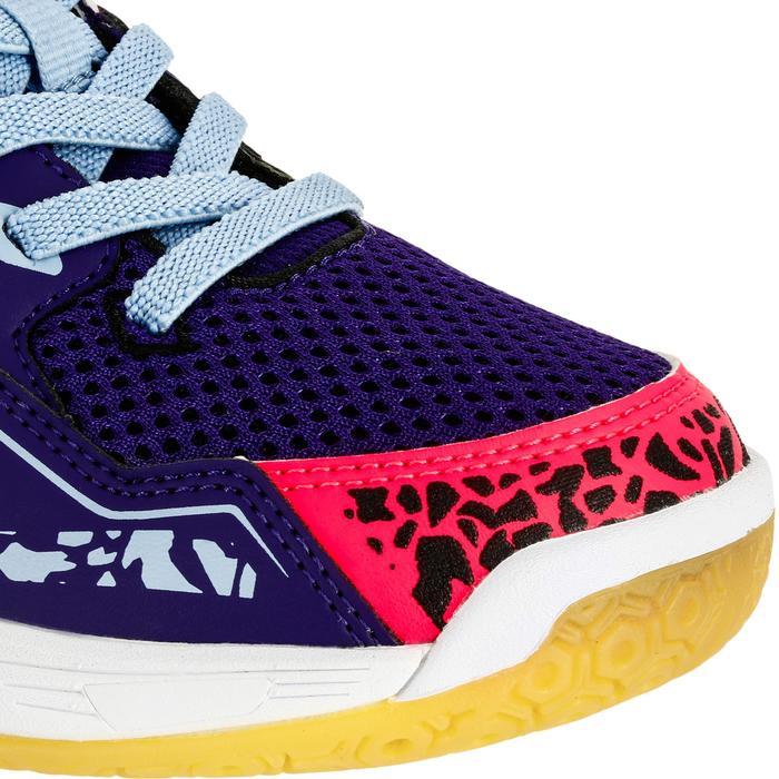 Chaussures de Handball H100 fille avec lacets violettes et roses - 1308926