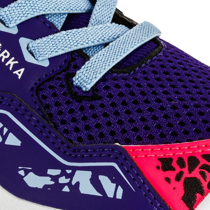 Chaussures de Handball H100 fille avec lacets violettes et roses - 1308927