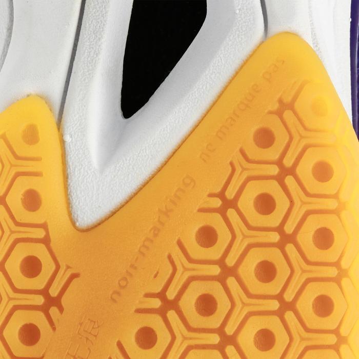 Chaussures de Handball H100 fille avec lacets violettes et roses - 1308928
