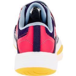 Handballschuhe H100 mit Klettverschluss Kinder lila/rosa