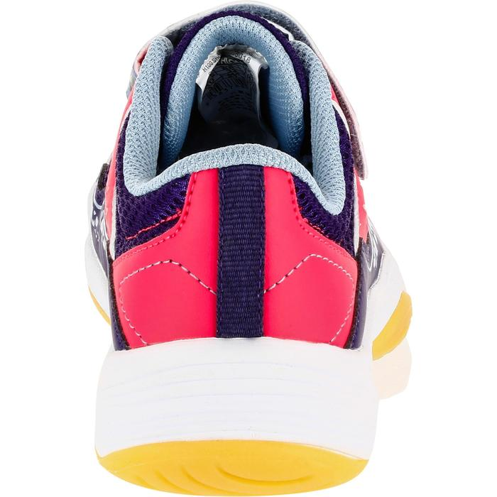 Handbalschoenen H100 meisjes klittenband violet/roze