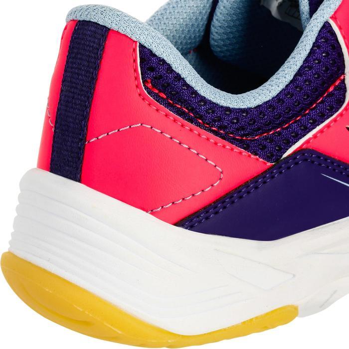 Chaussures de Handball H100 fille avec lacets violettes et roses - 1308932