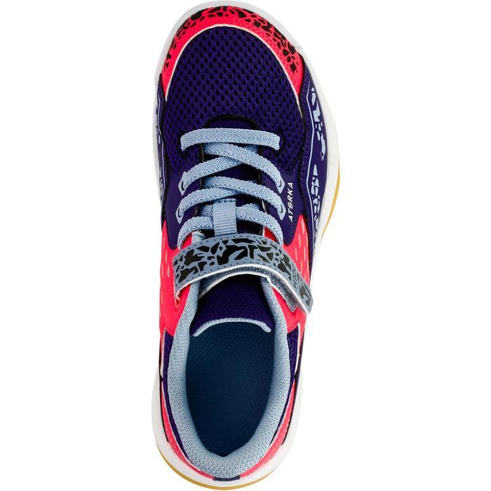 Chaussures de Handball H100 fille avec lacets violettes et roses - 1308933