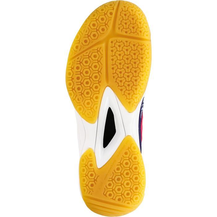 Chaussures de Handball H100 fille avec lacets violettes et roses - 1308935
