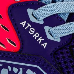 Handbalschoenen kind H100 met klittenband violet/roze
