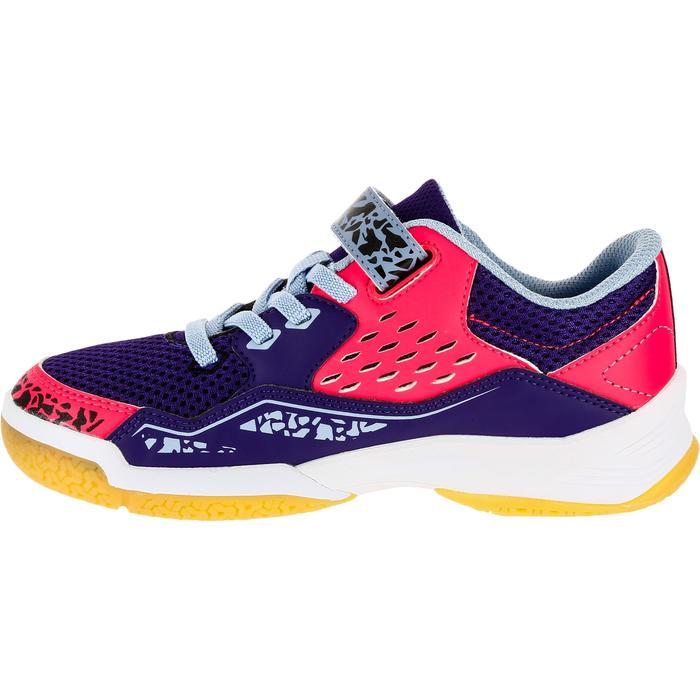 Chaussures de Handball H100 fille avec lacets violettes et roses - 1308937
