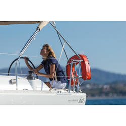 100 Adventure Women's Short-sleeved Sailing Polo Shirt Pink