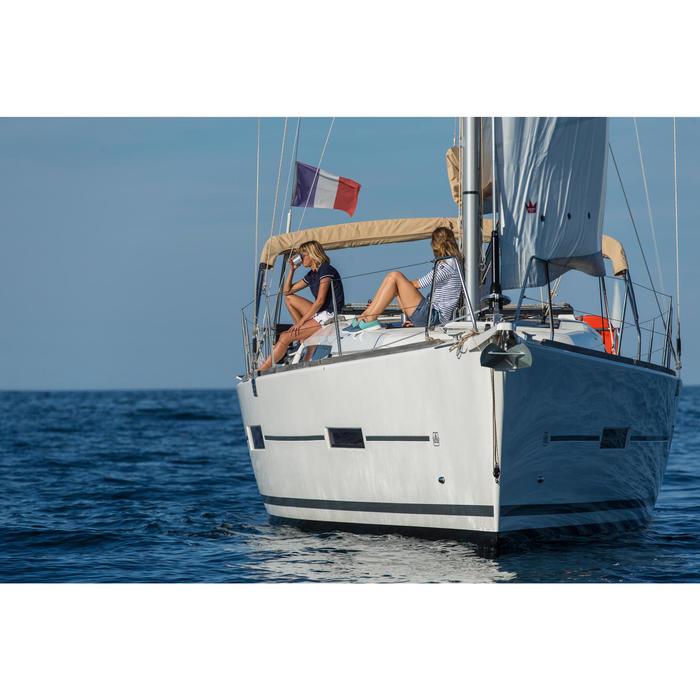 女款航海長袖T恤Sailing 100-藍色