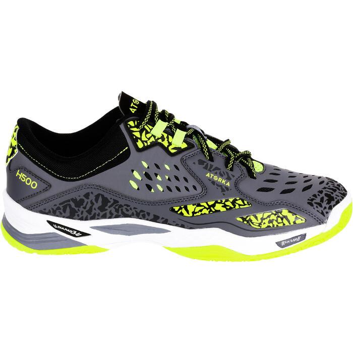 Chaussures de Handball H500 adulte noires et rouges - 1308966