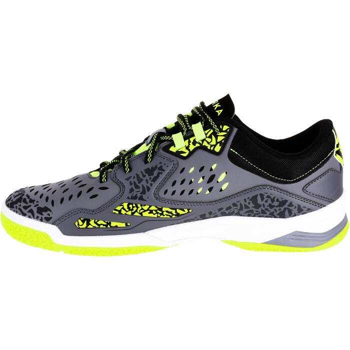 Chaussures de handball H500 adulte grise / jaune