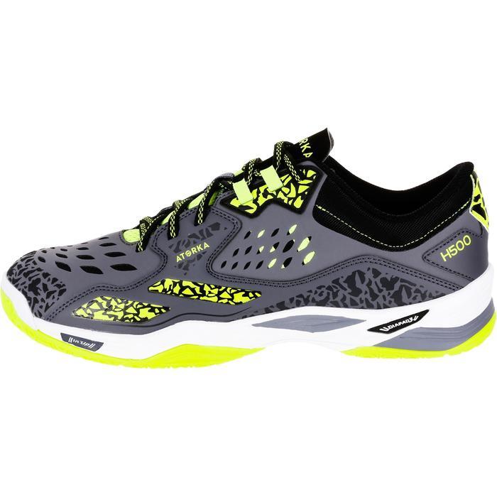 Chaussures de Handball H500 adulte noires et rouges - 1308968