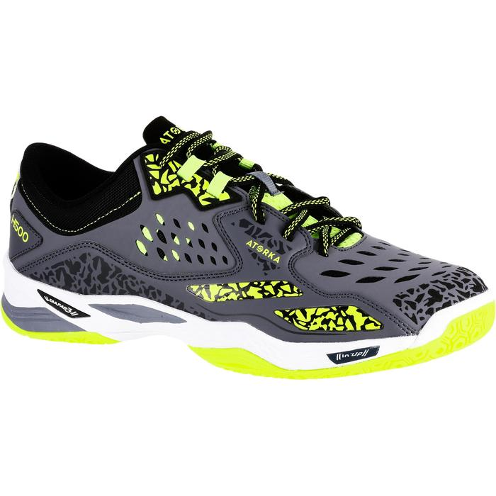 Handbalschoenen H500 volwassenen grijs/geel