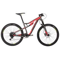 """Bicicleta de Montaña Rockrider XC 100 S  27,5"""" negra y roja"""