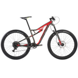 "Mountainbike 27,5"" MTB XC 100 S Plus schwarz/rot"