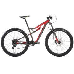 "Mountainbike 27,5"" MTB XC 100 S Plus schwarz/rot"