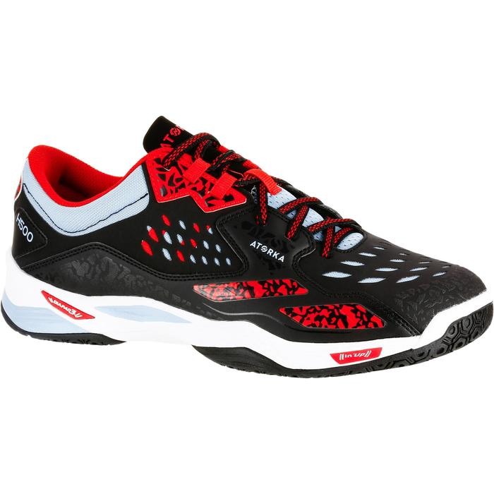 Chaussures de Handball H500 adulte noires et rouges - 1308987
