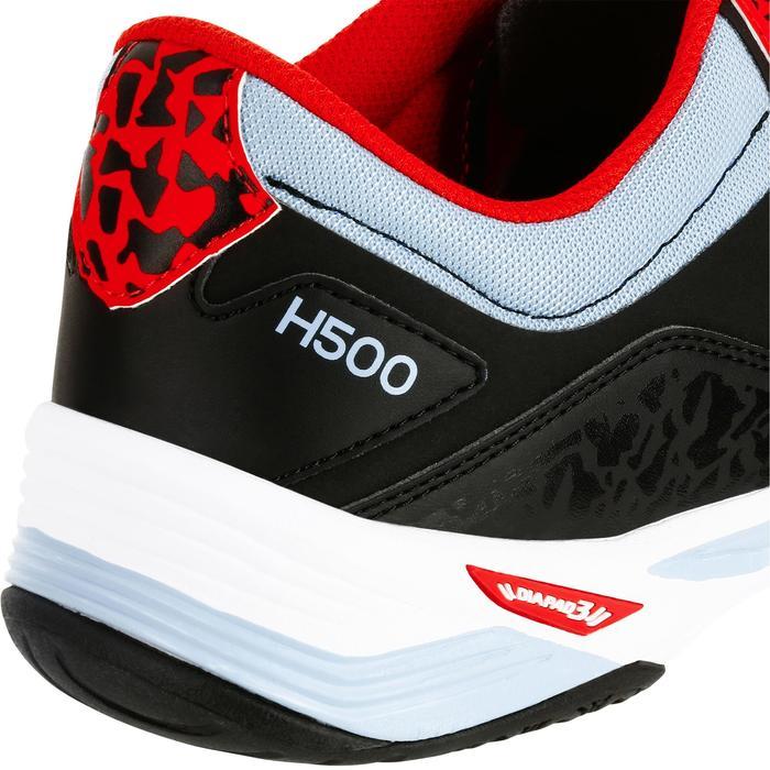 Chaussures de Handball H500 adulte noires et rouges - 1308990