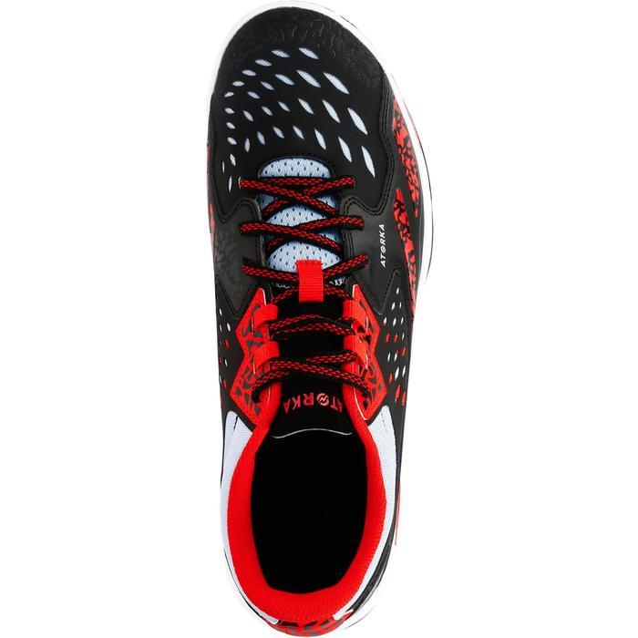Chaussures de Handball H500 adulte noires et rouges - 1308991