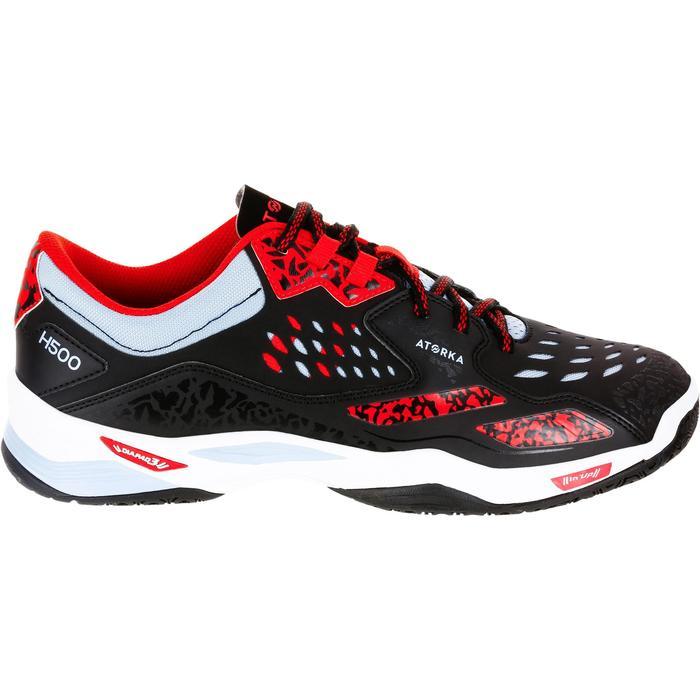 Chaussures de Handball H500 adulte noires et rouges - 1308992