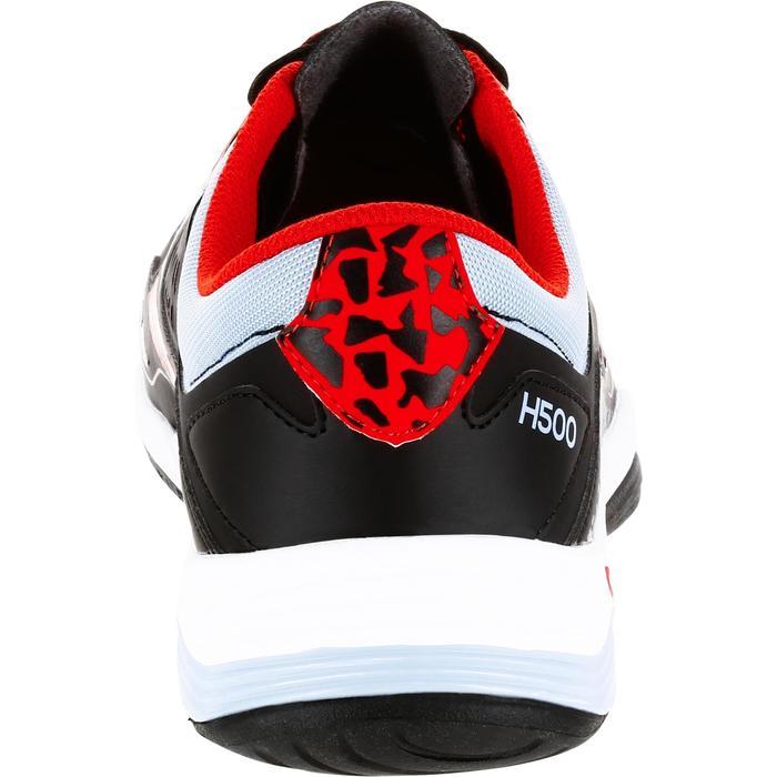 Chaussures de Handball H500 adulte noires et rouges
