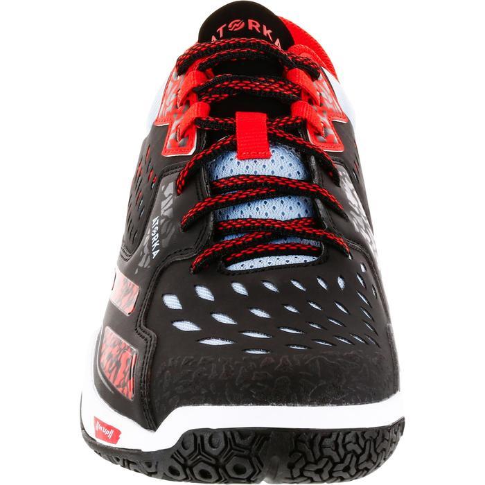 Chaussures de Handball H500 adulte noires et rouges - 1308998