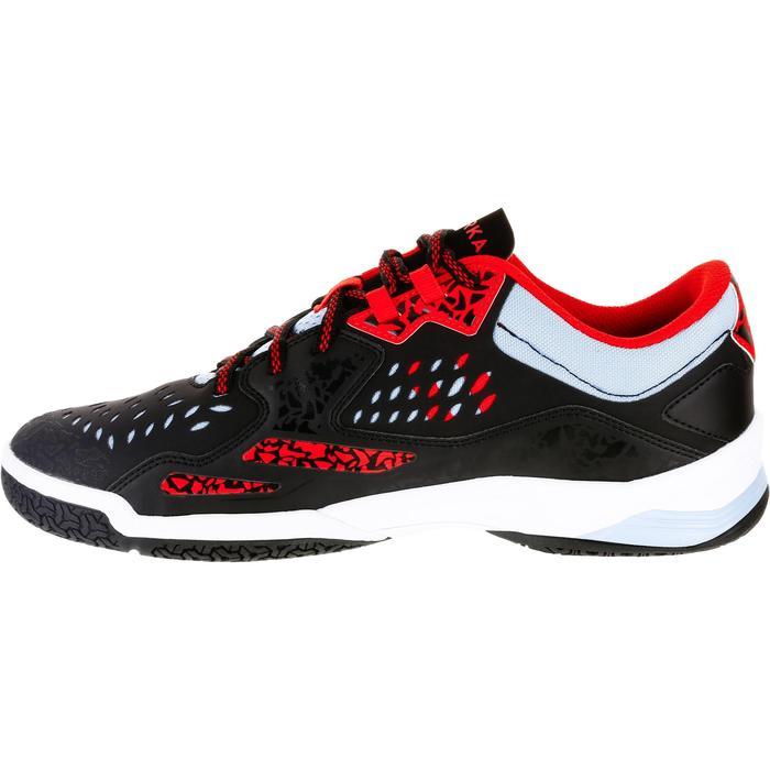 Chaussures de Handball H500 adulte noires et rouges - 1308999